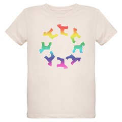 Rainbow Schnauzer Circle T-Shirt