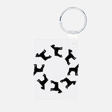 Schnauzer Circle Keychains