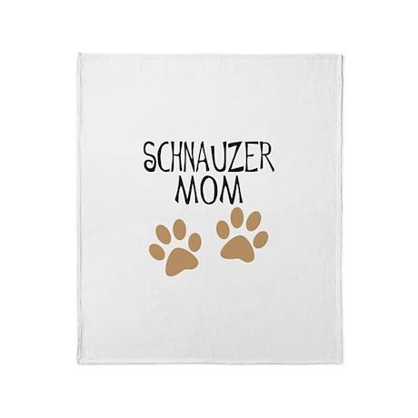Big Paws Schnauzer Mom Throw Blanket