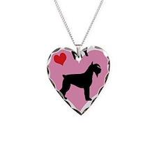 I Heart My Schnauzer Necklace