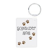 Paw Prints Schnauzer Mom Keychains