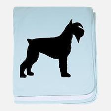 Schnauzer Dog baby blanket
