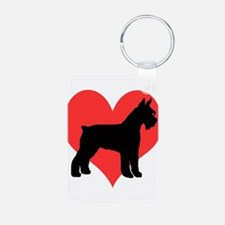 Red Heart Schnauzer Keychains