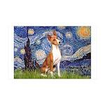 Starry Night & Basenji 35x21 Wall Decal