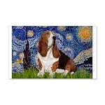 Starry Night & Basset 20x12 Wall Decal