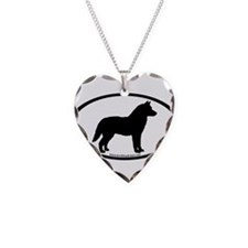 Siberian Husky Dog Oval Necklace