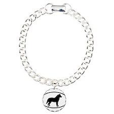 Siberian Husky Dog Oval Bracelet