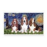 Starry Basset 20x12 Wall Decal