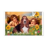 2 Angels & Basset 20x12 Wall Decal
