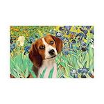 Irises & Beagle 35x21 Wall Decal