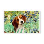 Irises & Beagle 20x12 Wall Decal