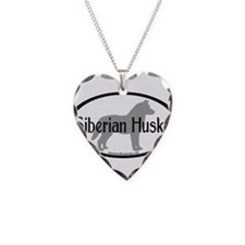 Siberian Husky Oval Necklace