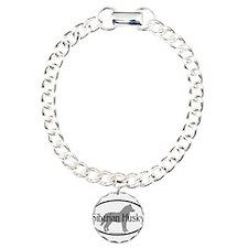 Siberian Husky Oval Bracelet