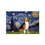 Starry Night & Beagle 35x21 Wall Decal
