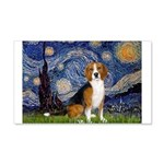 Starry Night & Beagle 20x12 Wall Decal