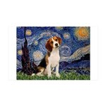 Starry Night / Beagle 35x21 Wall Decal