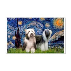 Starry / 2 Bearded Collies Wall Decal