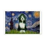 Starry Night /Bearded Collie 20x12 Wall Decal