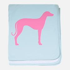 Pink Sloughi baby blanket