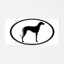 Sloughi Dog Oval Aluminum License Plate