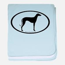 Sloughi Dog Oval baby blanket