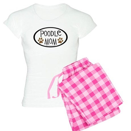 Poodle Mom Oval Women's Light Pajamas