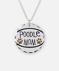 Poodle Mom Oval Necklace
