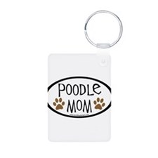Poodle Mom Oval Keychains