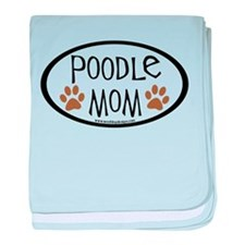 Poodle Mom Oval baby blanket