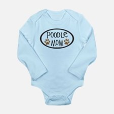 Poodle Mom Oval Long Sleeve Infant Bodysuit