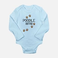 Poodle Mom Long Sleeve Infant Bodysuit