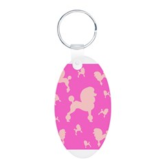 Pink on Pink Poodles Keychains