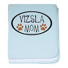 Vizsla Mom Oval baby blanket