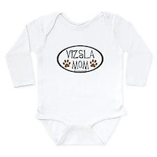 Vizsla Mom Oval Long Sleeve Infant Bodysuit