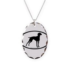 Vizsla Dog Oval Necklace
