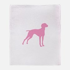 Pink Vizsla Dog Throw Blanket