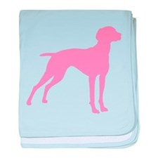 Pink Vizsla Dog baby blanket