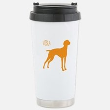 Vizsla Silhouette Stainless Steel Travel Mug