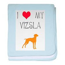 I Heart My Vizsla baby blanket