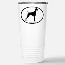 Weimaraner Oval Travel Mug