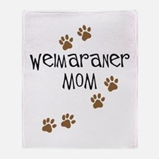 Weimaraner Mom Throw Blanket