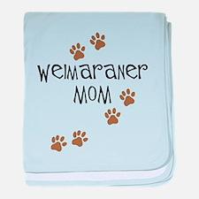 Weimaraner Mom baby blanket