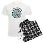 weimaraner circle portrait Men's Light Pajamas