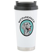 weimaraner circle portrait Travel Mug