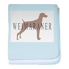Weimaraner Greytones baby blanket