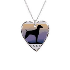 Unique Weimaraner art Necklace