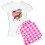 Weims Rule Pink Heart Women's Light Pajamas