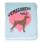 Weims Rule Pink Heart baby blanket