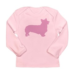 Pink Pembroke Welsh Corgi Long Sleeve Infant T-Shi