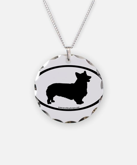Welsh Corgi Oval Necklace